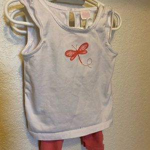 Janie and Jack 12-18 mo Dragon Fly Shirt & Bottoms